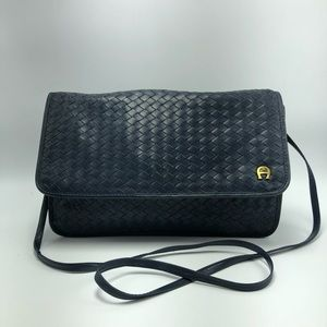 Etienne Aigner vintage navy blue crossbody purse